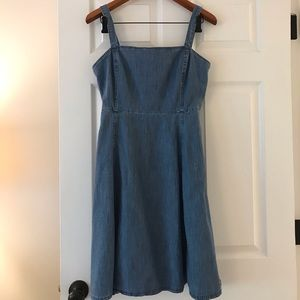 Gap size 6 denim mini dress.
